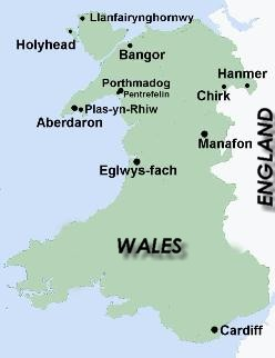 Map Of England Holyhead.Holyhead